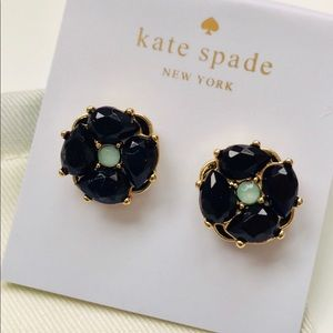 Kate Spade Izu Petals Earrings in Dark Navy